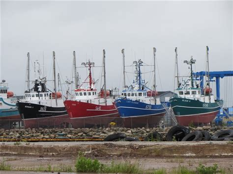 crab  herring boats  dry dock photo
