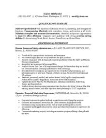 human resource resume summary human resources resume exle sle resumes for the hr industry