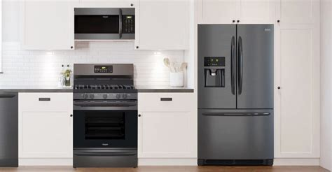 grey kitchen cabinets with black appliances tabulous design 8358