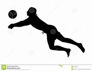 Beach Volley Player Silhouette - Man Stock Vector ...