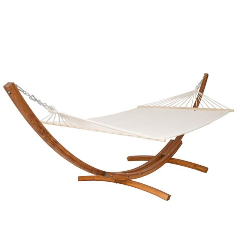 Hammock And Frame by Pine Wooden Hammock With Solid Arc Frame Stand