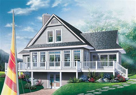 Fourseason Vacation Home Plan  2177dr  Architectural