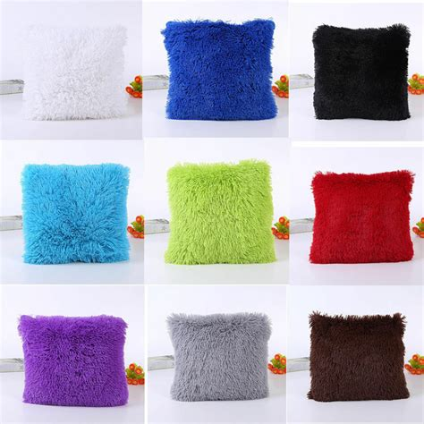 Square Pillows by 18 Quot Soft Plush Square Throw Pillow Cases Sofa Waist