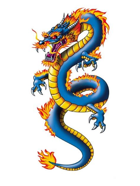 Dragón Chino Tatuaje Temporal  Tattoos Pinterest