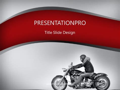Motorcycle Ride Gray Powerpoint Template Background In