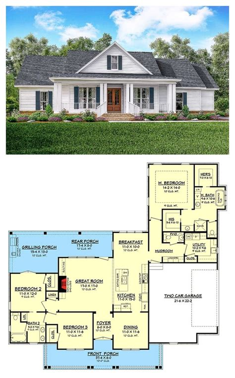 Classic 3 Bed Country Farmhouse Plan House Plans