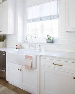 Farmhouse, Sink, With, A, Blush, Dish, Towel, And, Strawberries, On, Top, At, Our, Blushcrushclient, Ud83d, Udc96, Bec