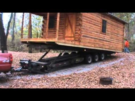 homers services moving log cabin youtube