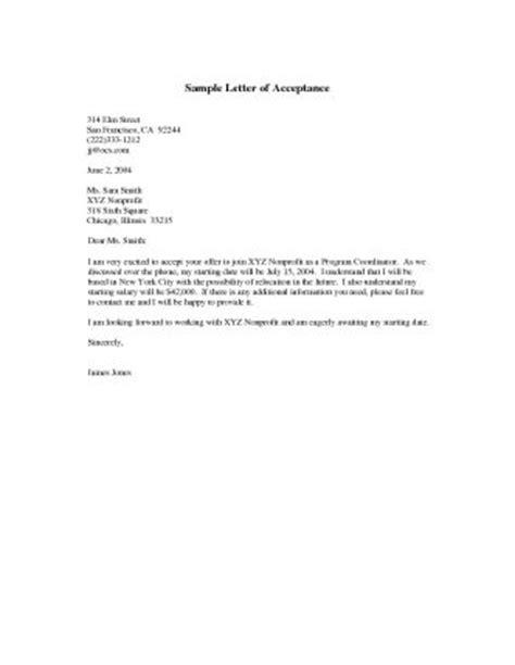 acceptance letter an average high graduate