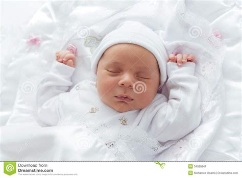 New Born Baby Looking Stock Image Image Of Infant