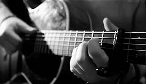 Black And White Guitar GIF Find Share On GIPHY