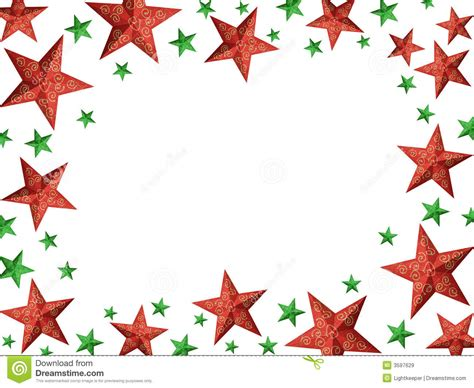 red  green stars frame royalty  stock images