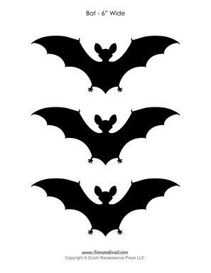 printable bat outlines bat silhouettes
