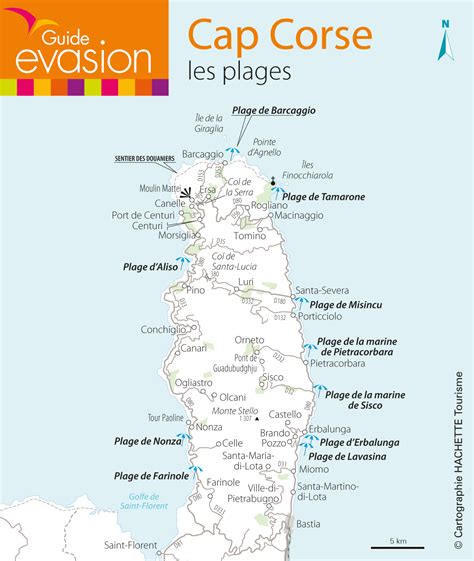 Carte Des Plages De by Les Plus Belles Plages Du Cap Corse Guide 233 Vasion