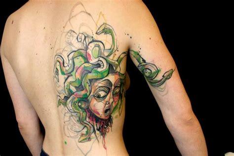 tattos ideen brilliant abstrakt aquarell tattoos