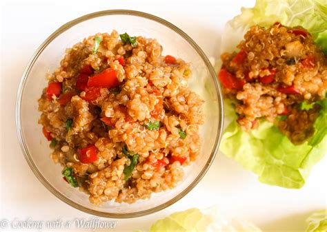 cuisine quinoa quinoa lettuce wraps cooking with a wallflower