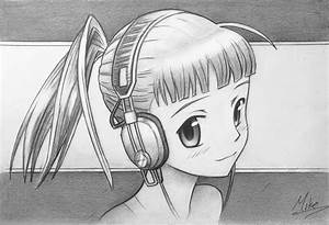 Manga Girl with Headphones by MCorderroure on DeviantArt