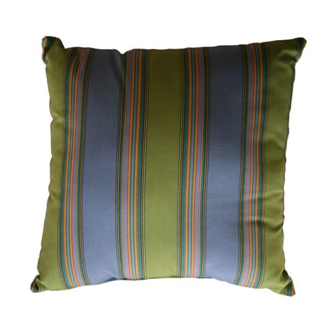 sunbrella outdoor pillows throw pillow indoor outdoor 17 quot square sunbrella stripe
