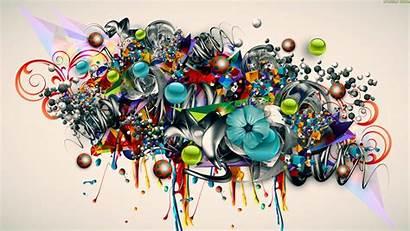Graffiti 3d Flowers Urban Psychedelic Desktop Wallpapers
