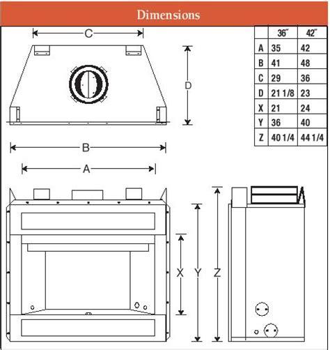 fireplace firebox dimensions 36 quot pro series superior wrt wct3000 c36 fmi ihp craftsman woodburning fireplace firebox hearth