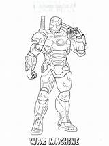 Machine War Coloring Getdrawings sketch template