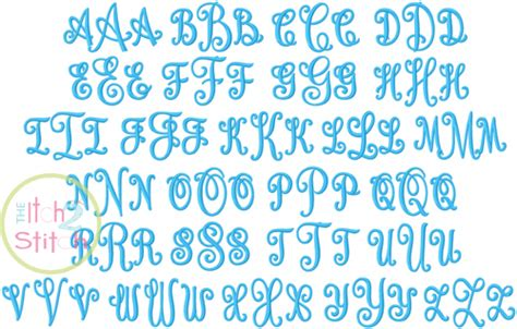 curtsy monogram embroidery font