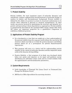 Protein Stability Manual