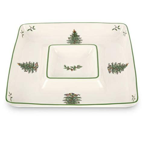 spode christmas tree chip dip plate  white  green spode christmas spode christmas