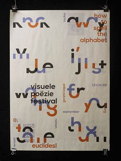 Poetry Visual Festival Behance Shape Poems Graphic