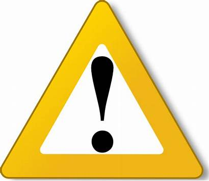 Warning Caution Clip Triangle Yellow Clipart Symbol