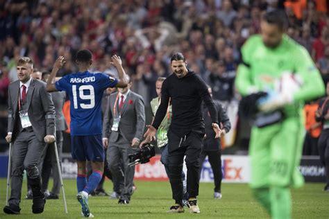 170524 Manchester Uniteds Zlatan Ibrahimovic och Marcus ...