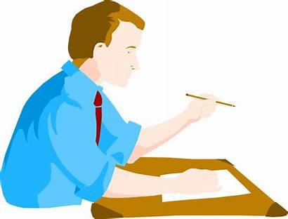Clipart Business Desk Person Sitting Illustration Businessman