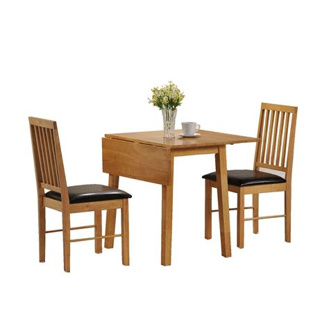 small wooden kitchen table dining table and 2 chairs set 2 seater drop leaf set