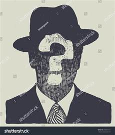 Silhouette of Man with Hat and Suit