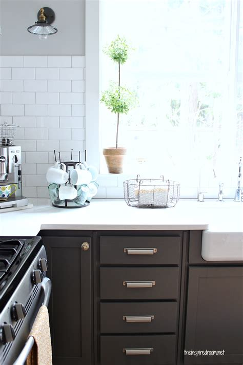 Metal Kitchen Backsplash Ideas - kitchen cabinet colors before after the inspired room