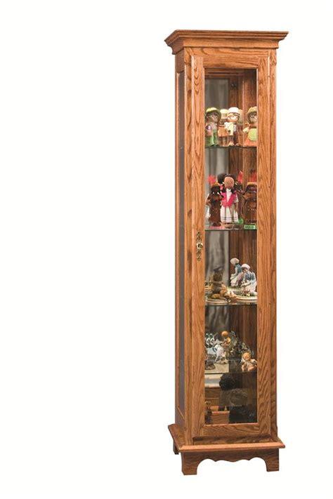 amish small curio cabinet