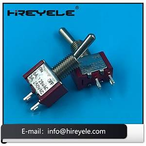 Spst On Off Solder Terminal 2 Pin 12v Toggle Switch