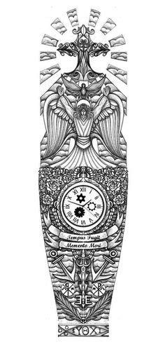 half sleeve tattoo stencils for men - Google Search | Tattoos | Pinterest | Sleeve tattoos
