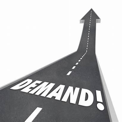 Demand Increased Increasing Rising Going Word Road