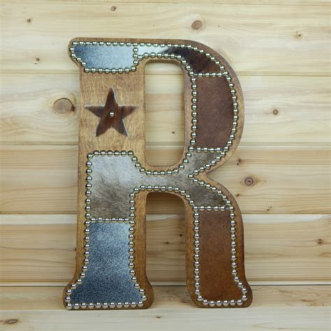 Cowhide Decor by Cowhide Wall Letter R Western Home Decor Wall By Lizzyandme