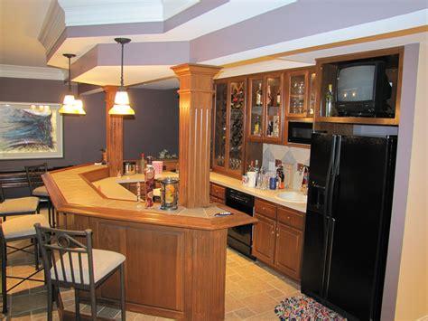 Basement Bar by Finished Basement Bar House