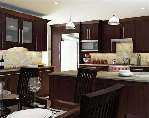 kitchen with brown cabinets the charm in kitchen cabinets 8745
