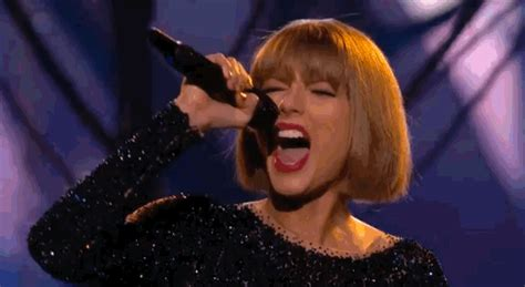 taylor swift singing gif by recording academy grammys find share on giphy