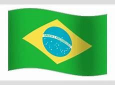 Gifs animados de bandeira brasileira e do mapa do Brasil