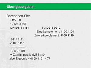 Zweierkomplement Berechnen : bit wise 2013 basisinformationstechnologie i 03 grundlagen iii ~ Themetempest.com Abrechnung