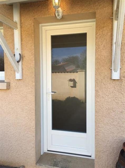 porte d entree vitree pvc porte d entr 233 e vitr 233 e avec soubassement en pvc blanc