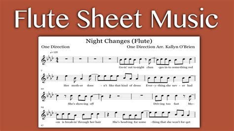 changes one direction flute sheet