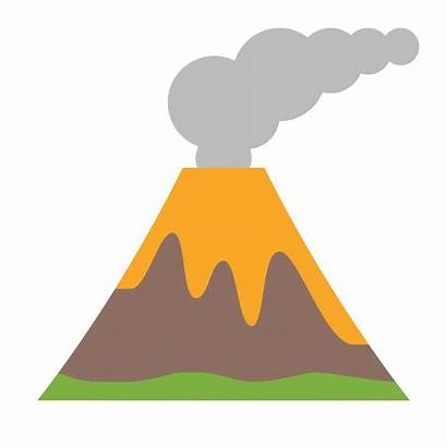 Volcano Clipart Eruption Volcanic Drawing Shield Icon
