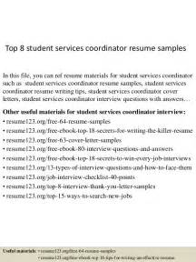 student support services resume top 8 student services coordinator resume sles