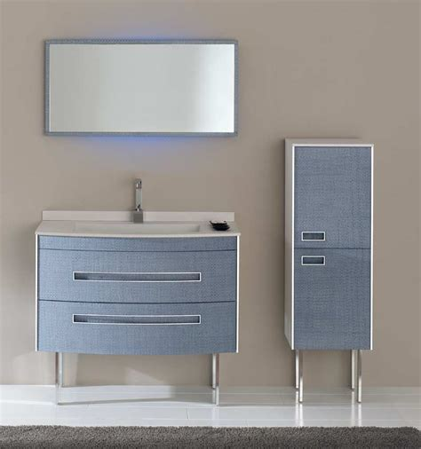 blue bathroom vanity   abode